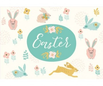 seasonal easter vinyl placemat